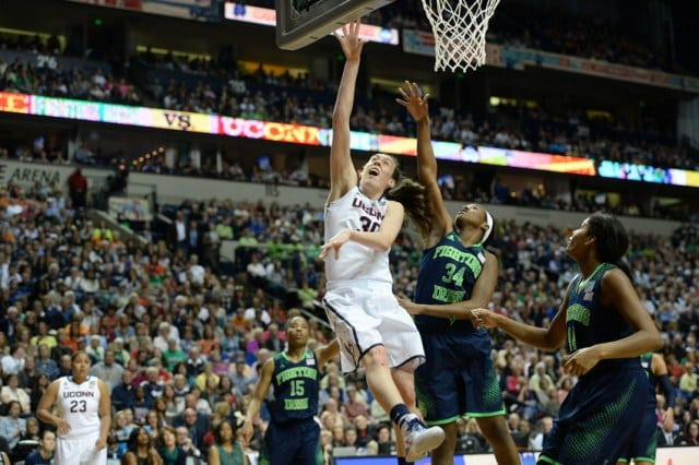 04/10/14: the UConn/Notre Dame clash heated up ratings for