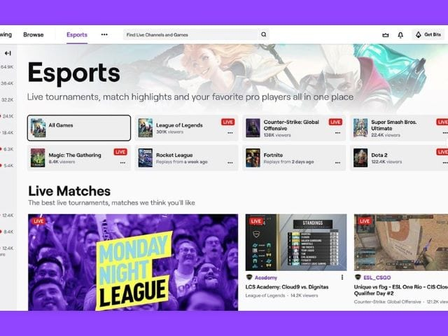 04/30/20: After a new deal with DreamHack & ESL, Twitch unveiled an Esports Directory