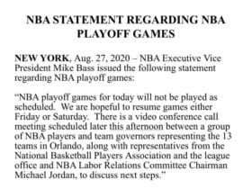 NBA Players opt to resume
