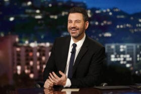 Jimmy Kimmel plays ball for ABC