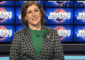 """Mayim Bialik steps in (for now) for there-and-then-he's-not """"Jeopardy!"""" host Mike Richards"""